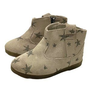 Zara Grey Suede Star Print Ankle Booties